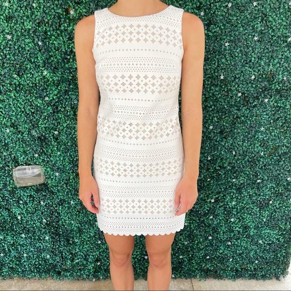 ELIZA J MINI WHITE DRESS